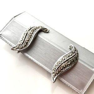 Vintage Marcasite Clip-On Earrings